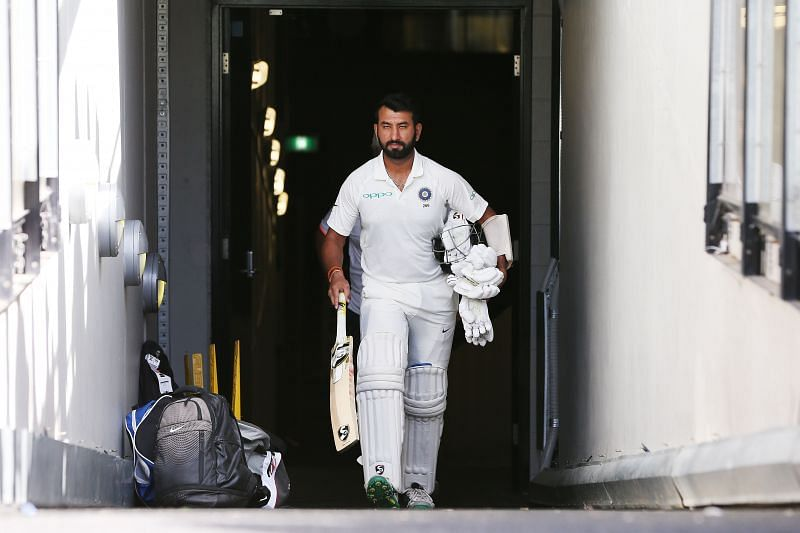 Cheteshwar Pujara played 54 balls before getting off the mark in a Test match against South Africa