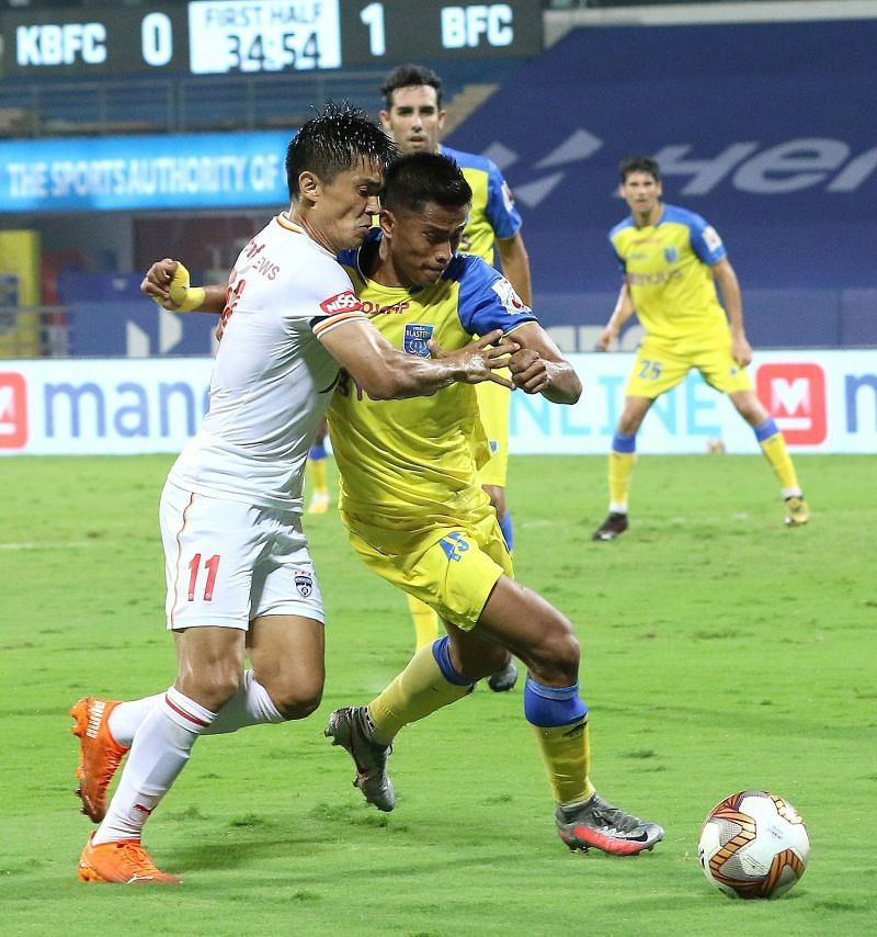 Sunil Chhetri looked threatening to score on multiple occasions but couldn