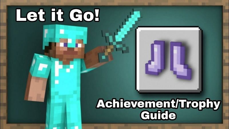 "A brief Minecraft guide on how to earn the ""Let it Go!"" achievement. (Image via Kharma hymm/YouTube)"