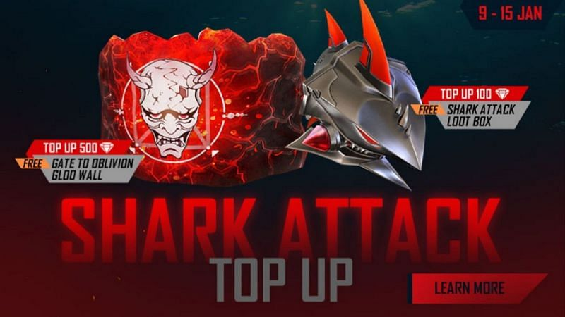How To Get Rewards Through Shark Attack Top Up Event In Free Fire