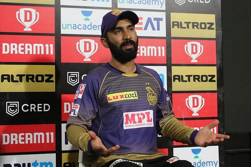 Dinesh Karthik has been a part of the Kolkata Knight Riders team since IPL 2018 (Image Courtesy - IPLT20.com)
