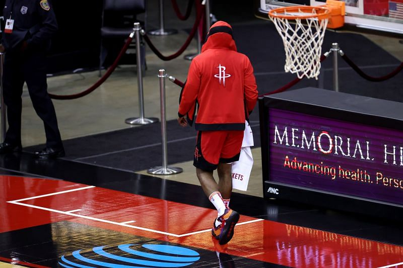 James Harden leaves the court after loss to LA Lakers