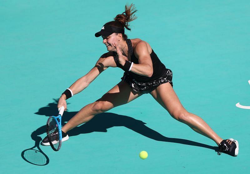 Maria Sakkari at the Abu Dhabi WTA Women