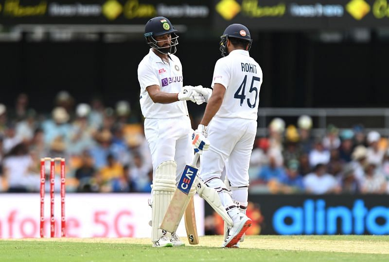 Indian fans would be hoping that Rohit Sharma (R) and Cheteshwar Pujara (L) make healthy contributions.