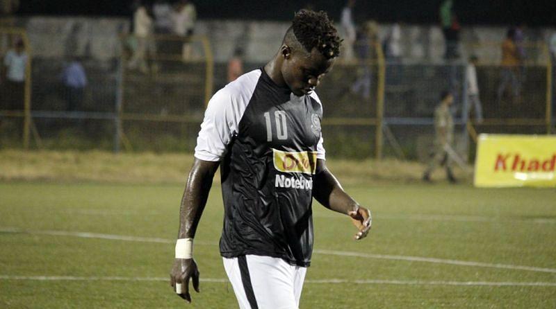 Phillip Adjah in action for Mohammaden SC.