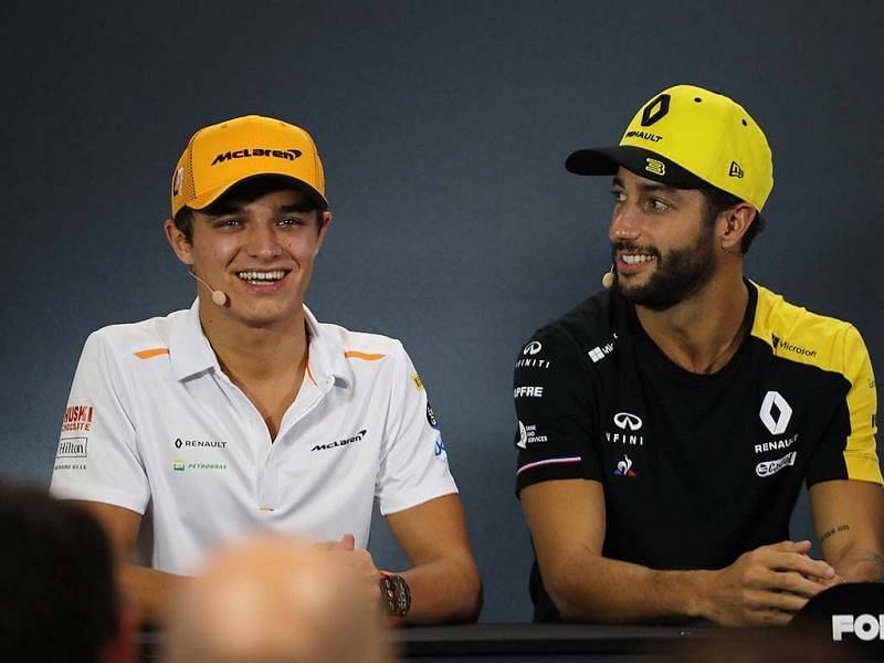 Daniel Ricciardo has switched camps and joined Mclaren , where he will partner Lando Norris.