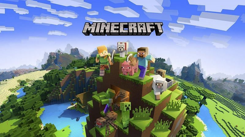Steve along with an assortment of mobs from Minecraft. (Image via apkpure.com)