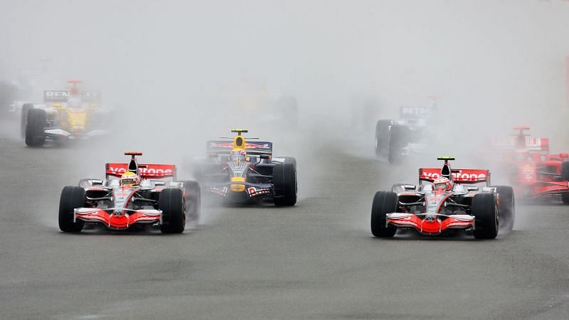 Lewis Hamilton dominated the race in treacherous conditions at Silverstone.