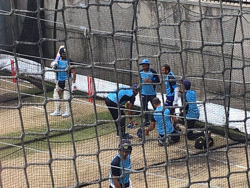 Team India suffered 2 injury scares at nets (Source: Twitter)