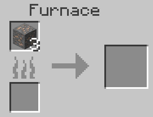 Füllen Sie den oberen Schlitz mit dem Eisen, das Sie schmelzen möchten