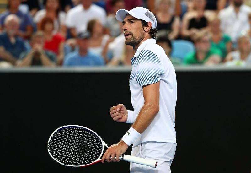 Jeremy Chardy will look to make the best of his big groundstrokes in the faster court conditions.