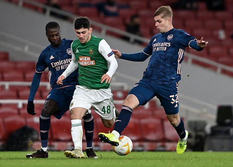 Yusuf Demir in action against Arsenal