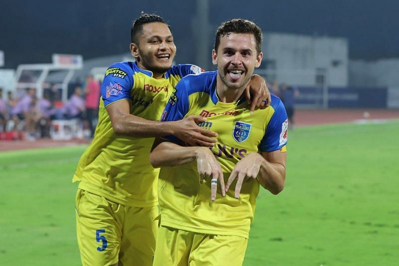 Jordan Murray has cemented his place in the starting line-up of Kerala Blasters by scoring regular goals. (Image: ISL)