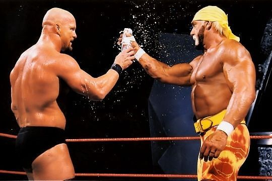 Steve Austin shared a beer with Hulk Hogan