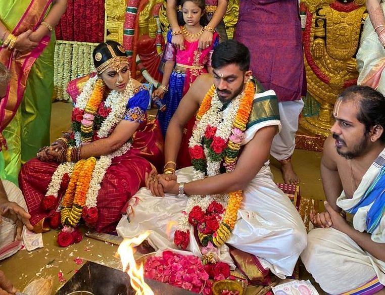 Vijay Shankar gets hitched! (Image: Sunrisers Hyderabad / Twitter)