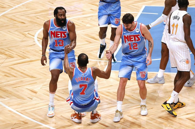 The Brooklyn Nets will finally feature their big three on Wednesday night