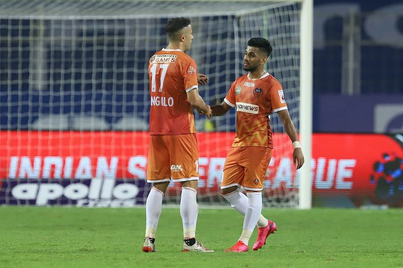 FC Goa players Igor Angulo and Brandon Fernandes