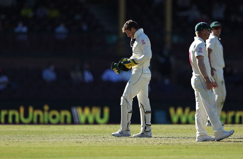 Tim Paine in action during Day 5 of the SCG Test