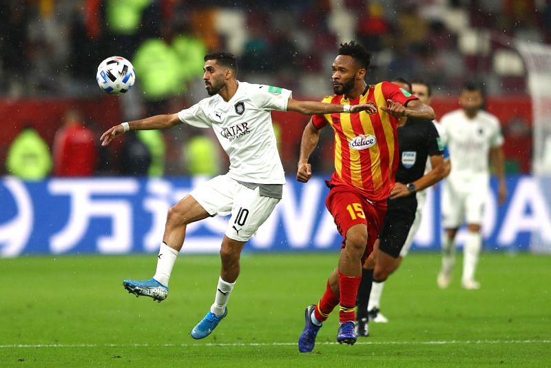 Hassan Al-Haydos in action during the 2019 FIFA Club World Cup.
