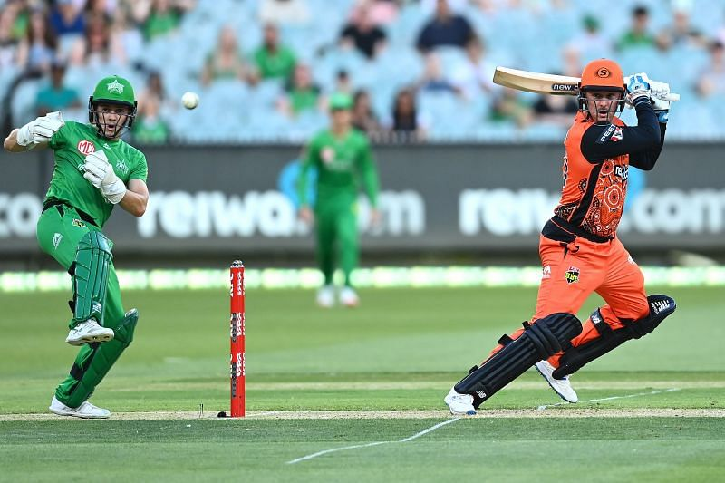 Action from the BBL game between Melbourne Stars and Perth Scorchers