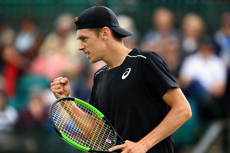 Alex de Minaur at the 2018 Nature Valley Open