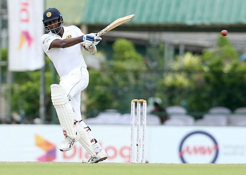 Angelo Mathews scored the 11th Test century of his career.