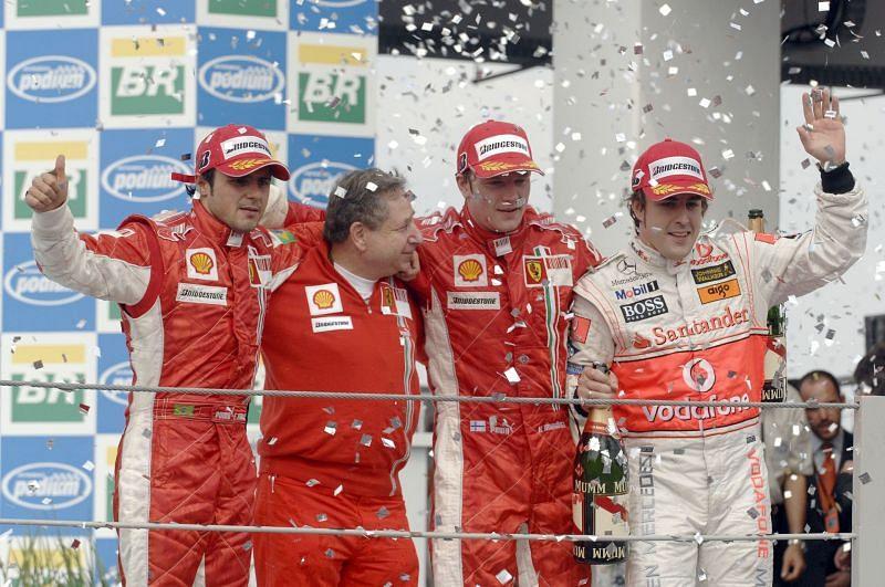 Kimi Raikkonen won his first Formula 1 World Championship by winning the Brazilian Grand Prix in 2007.