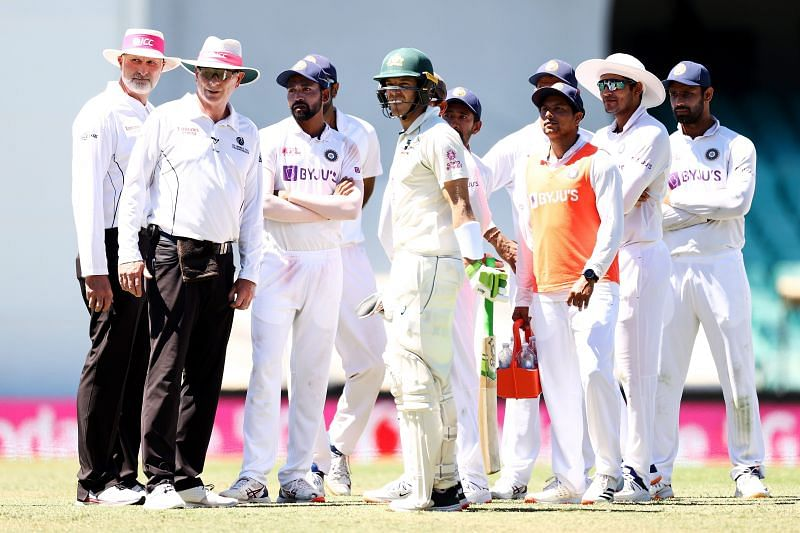 Play was stopped on Day 4 after Team India complained of racial abuse.