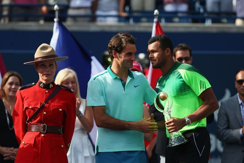 Roger Federer after losing to Jo-Wilfried Tsonga at the 2014 Rogers Cup