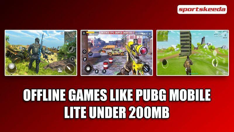 Offline Android games like PUBG Mobile Lite under 200 MB