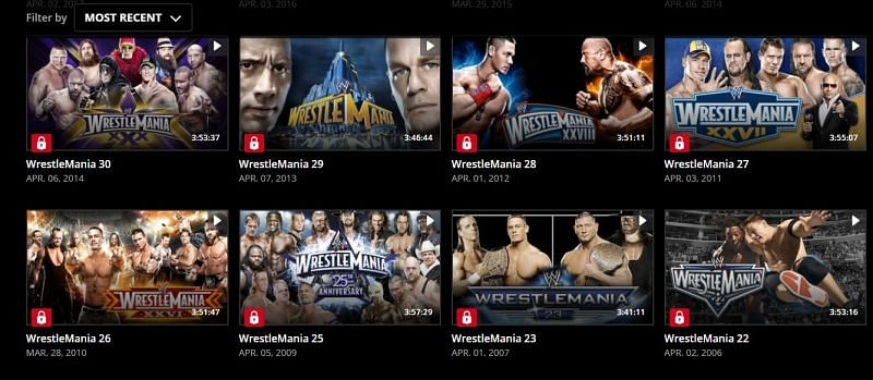 WrestleMania 24 has disappeared from the WWE Network