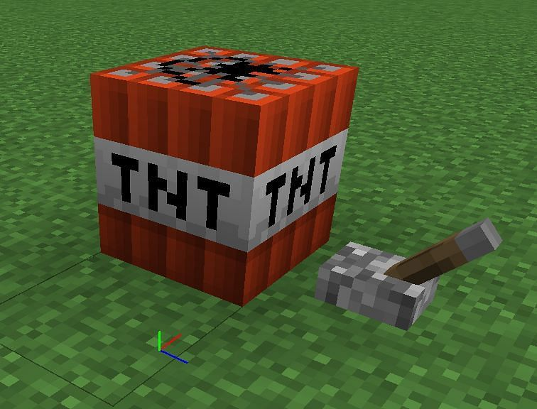 Activating a TNT Block with a Lever signal