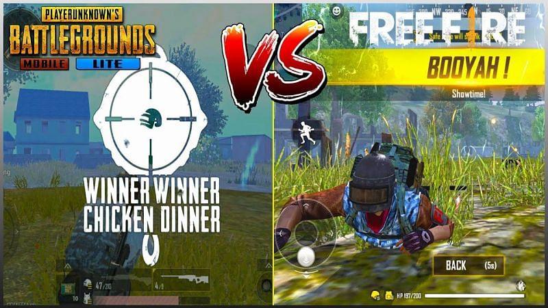 PUBG Mobile Lite vs Free Fire. Image via Tech$Gaming Stuff (YouTube)