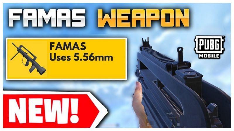 """Now"" سلاح famas ببجي || موقع السلاح الجديد FAMAS"