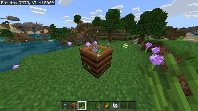 Using composter in Minecraft