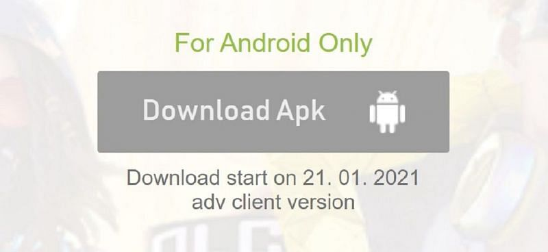 Players will be able to download the APK today, i.e., on January 21st