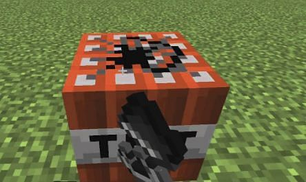 Activating a TNT Block with Flint & Steel
