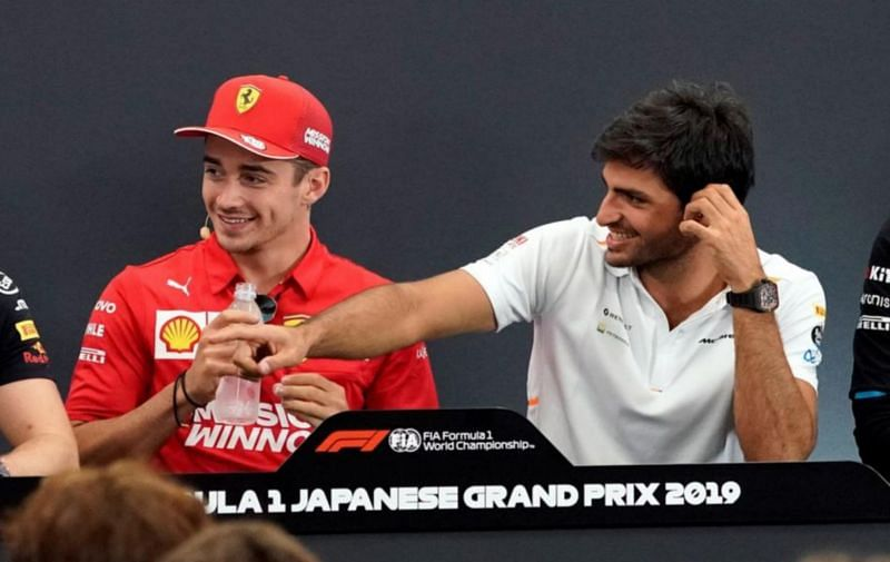 Charles Leclerc will have Carlos Sainz in the second Ferrari seat for the 2021 season.