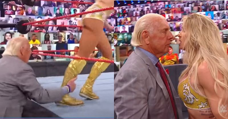 Ric Flair got a dressing-down by his daughter on RAW.
