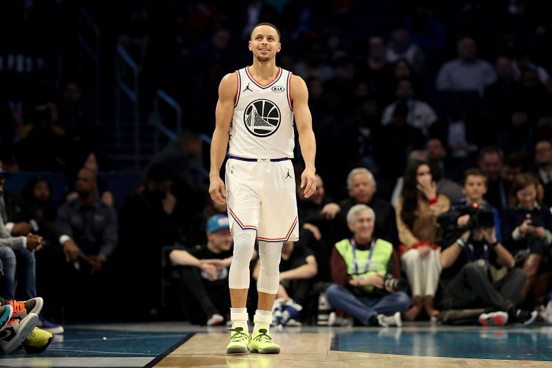 Stephen Curry during the 2019 NBA All-Star Game in Charlotte