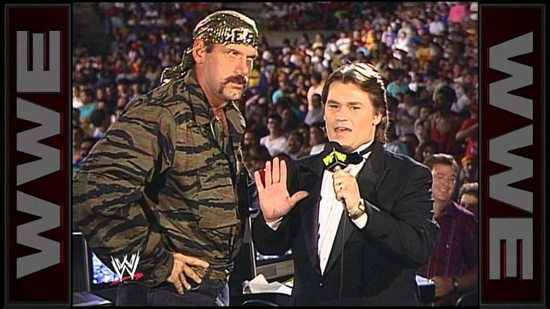 Tony Schiavone and Jesse Ventura.