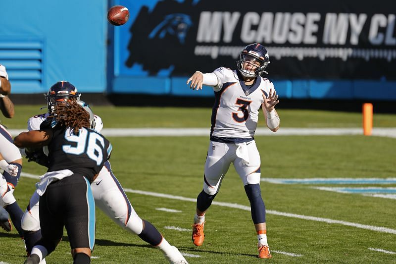 Denver Broncos QB Drew Lock Looks To Finish The Season On a High Note Against The Las Vegas Raiders