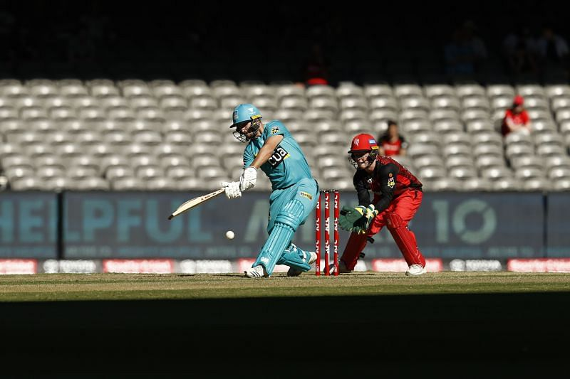 Action from BBL game between Melbourne Renegades and Brisbane Heat.