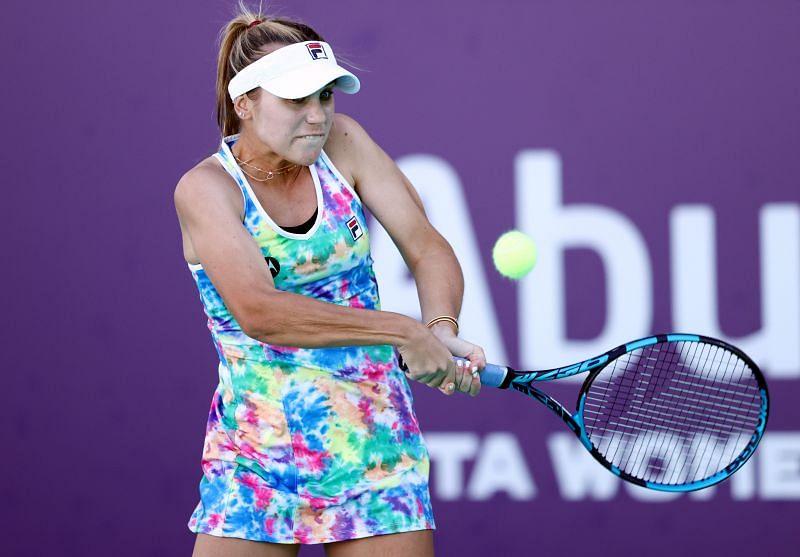 Sofia Kenin at the Abu Dhabi WTA Women