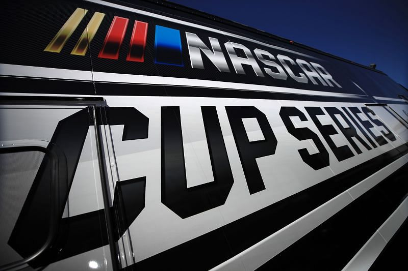 A general view of the NASCAR Cup Series logo. (Photo by Chris Graythen/Getty Images)