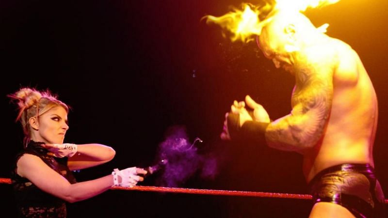 Randy Orton was hit with a fireball on RAW