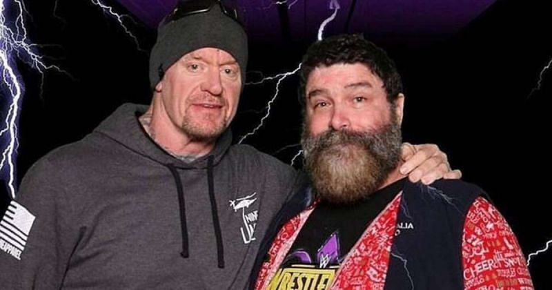 Undertaker and Mick Foley.