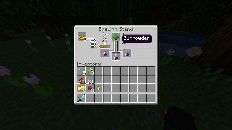 Putting Gunpowder in Brewing Stand UI