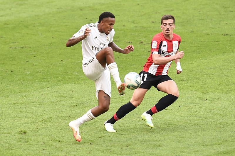 Militao in action for Real Madrid