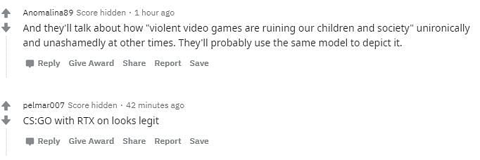 Reactions to the CS: GO player model being used to depict a terrorist